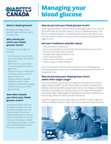 Managing your Blood Sugar