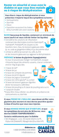 Staying Safe When you Have Diabetes and Are Sick or At Risk of Dehydration - French