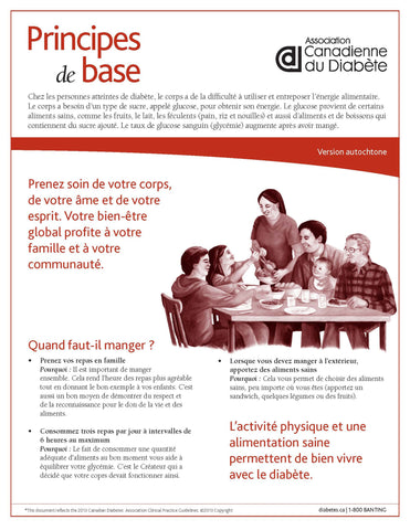 Principes de base – version autochtone