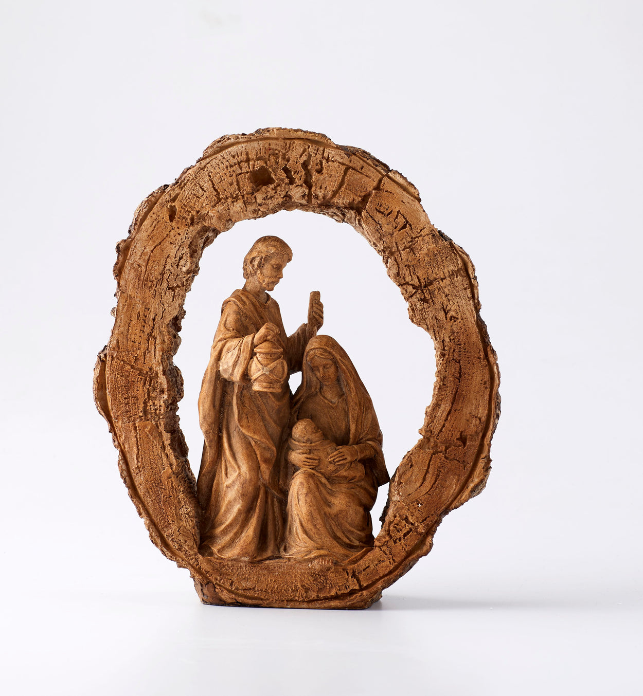 Woodcut Holy Family Unique Christmas Tree Topper - Summit Arbor LLC