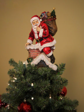 Santa in Chimney Unique Tree Topper - Summit Arbor