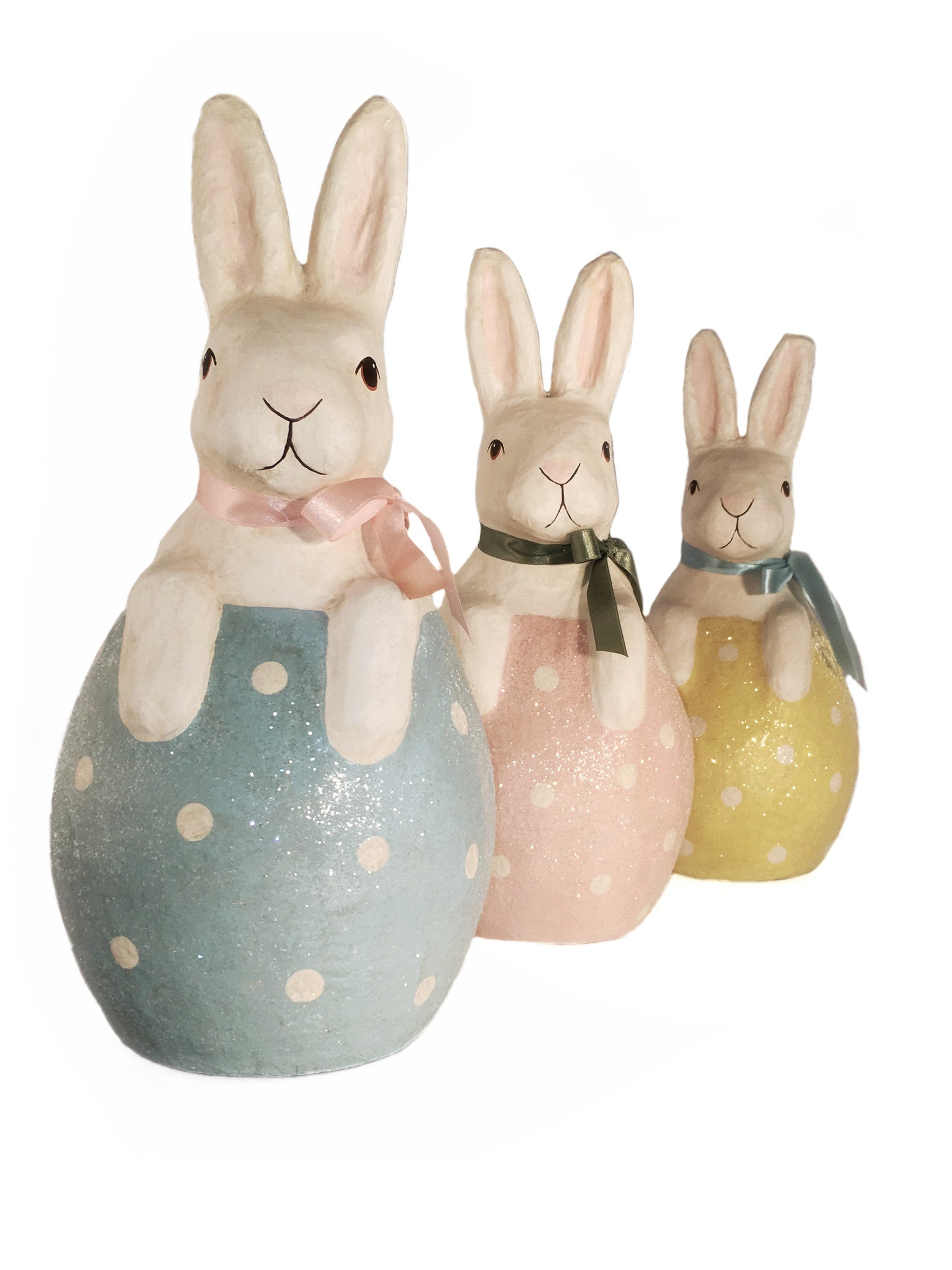 Beryl, Mimi & Sunny Bunny In Egg 3 Piece Set Easter Decoration - Summit Arbor