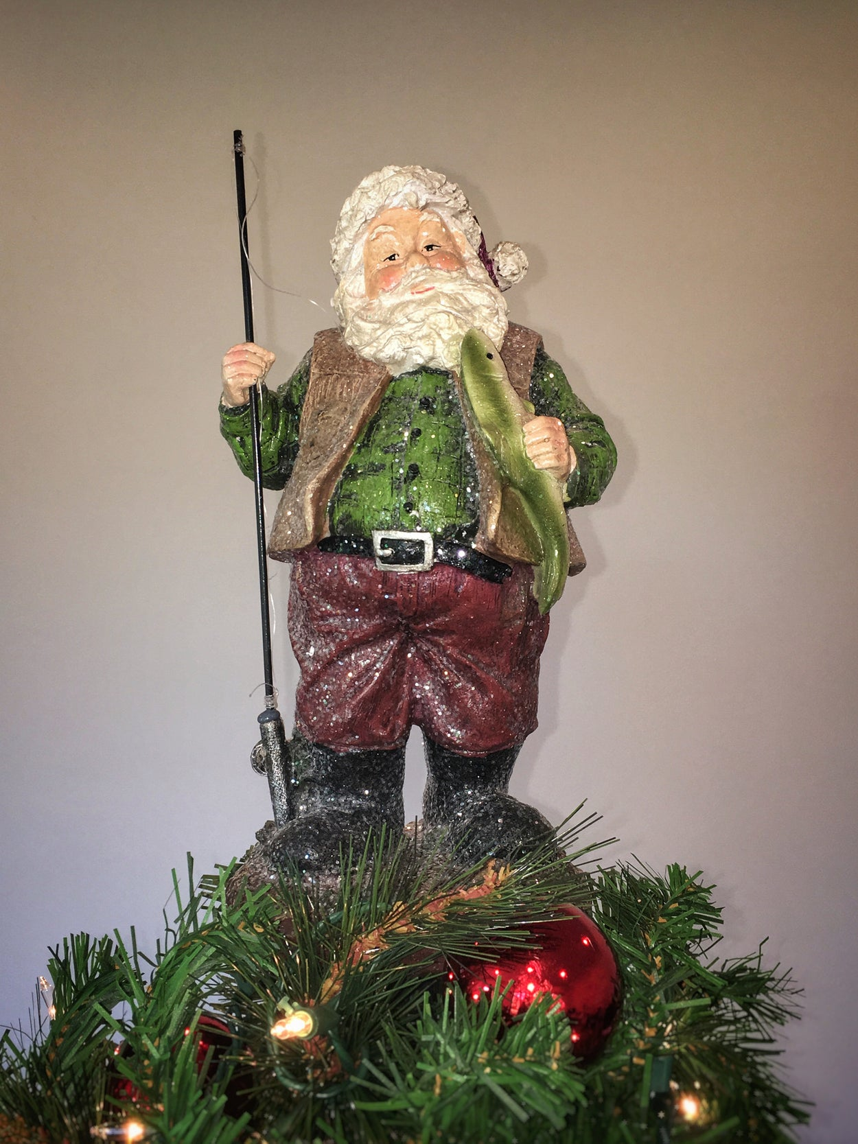 Fishing Santa Unique Tree Topper - Summit Arbor