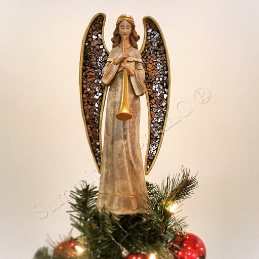 Mosaic Angel with Horn Unique Tree Topper - Summit Arbor