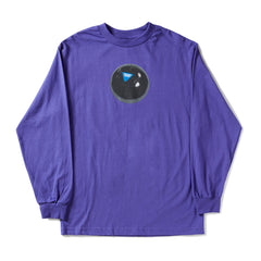 Crooked Arrow Purple long sleeve Shirt with B-ball Graphic