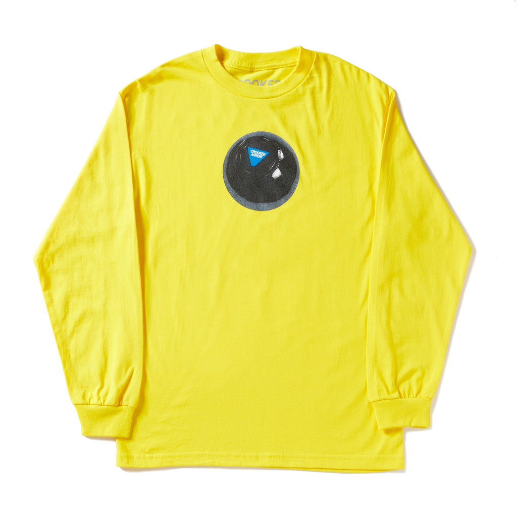 Crooked Arrow yellow long sleeve Shirt with B-ball Graphic