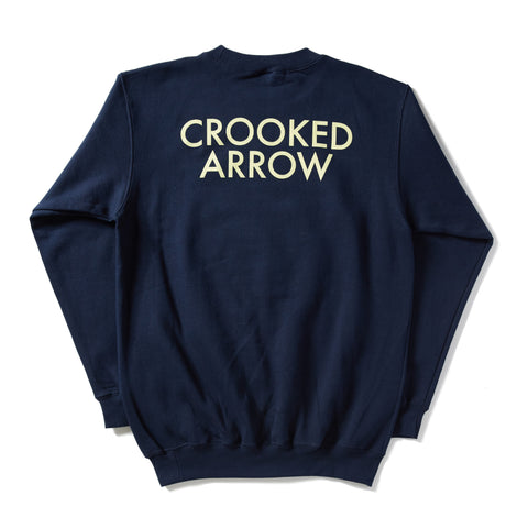 Thinking Of Us Navy Crewneck