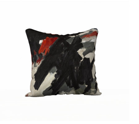 Pillow design Coup de Main with Red