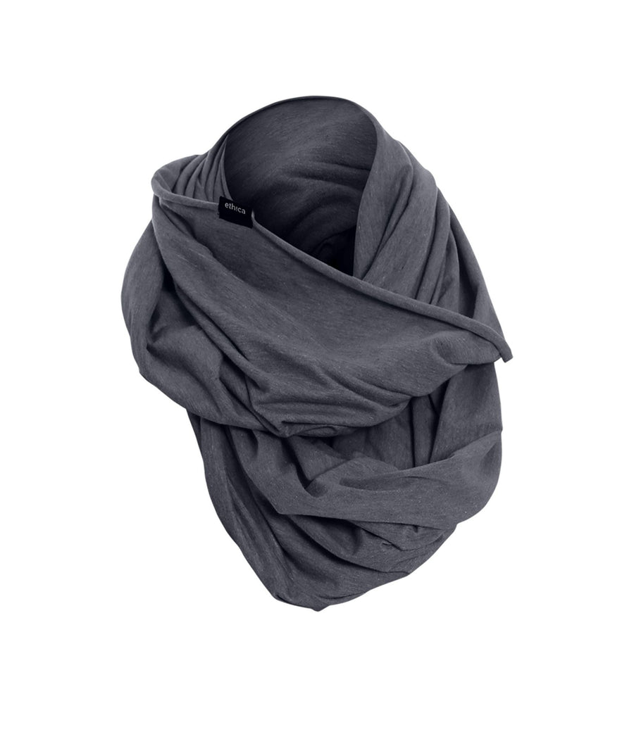 Heather Black Jersey T-soft Infinity Scarf
