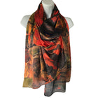 Tom Thomson Painting Autumn Woods on scarf