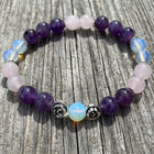 Gemstone Bracelet Amethyst, Rose Quartz and Moon Quartz
