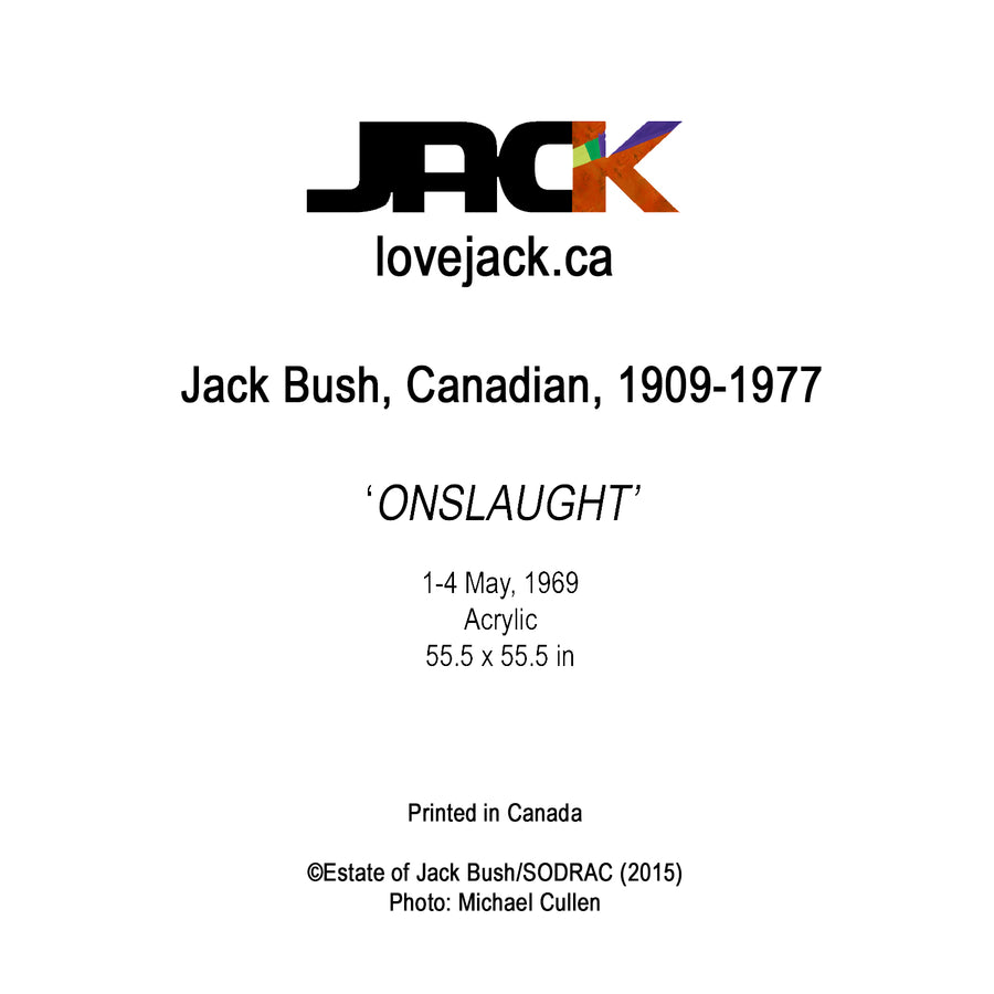 'ONSLAUGHT' by Canadian Artist, Jack Bush