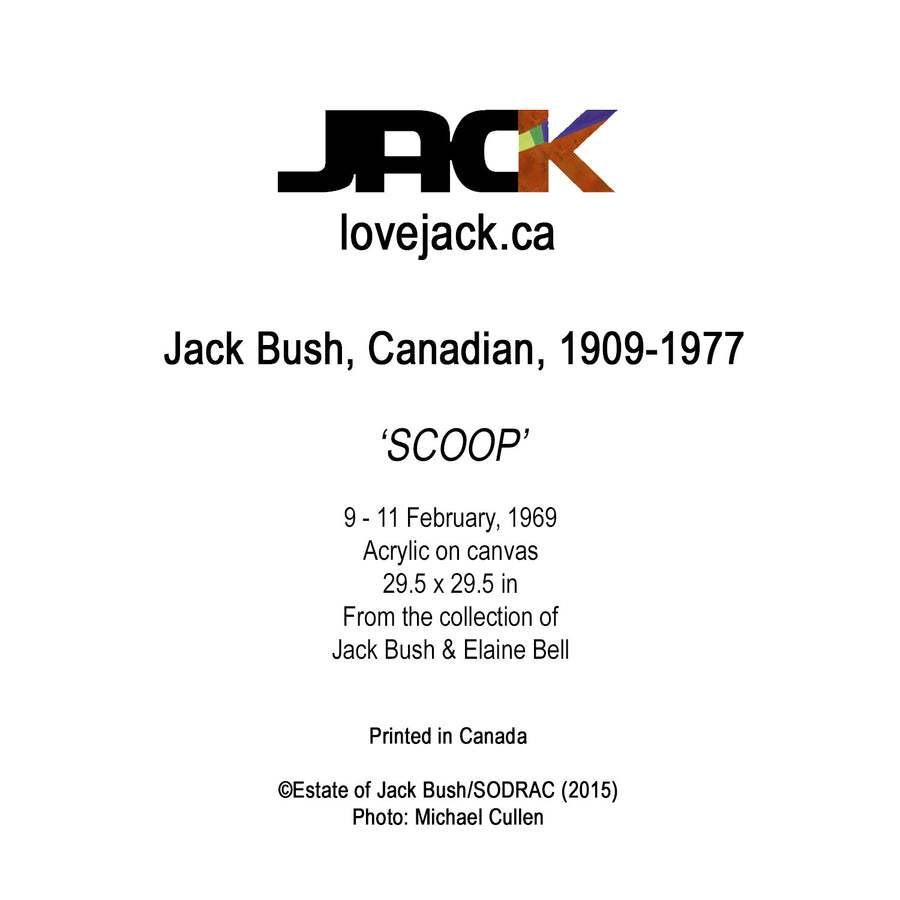 'SCOOP' by Canadian Artist, Jack Bush.
