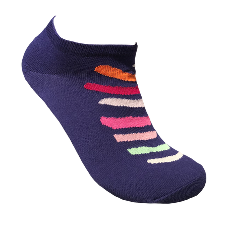 Women's socks blue with colour bars