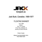 «FLOATING BANNER» par l'artiste canadien Jack Bush.