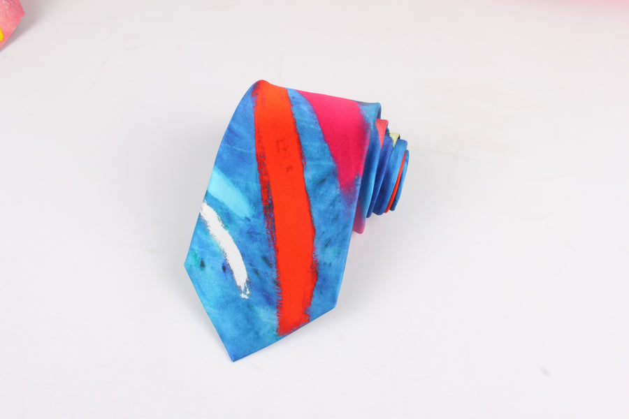 'BASIE BLUES' SILK TIE