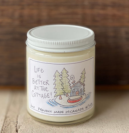 Life is better at the cottage  Light floral & musk for an outdoorsy scent
