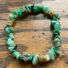 Gemstone Green Aventurine Chip Bracelet