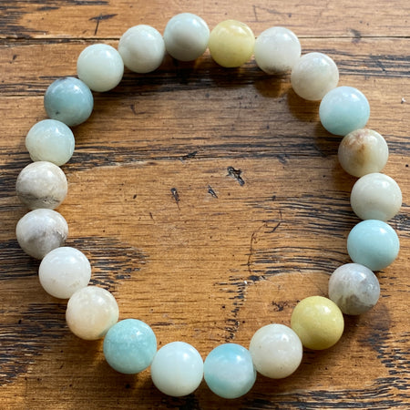 Gemstone Bracelet Amazonite perfect to add a charm