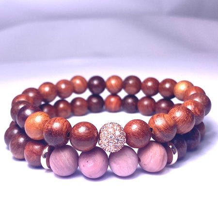 Pair of beautiful wood bracelets