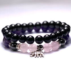 Beautiful gemstone bracelet set