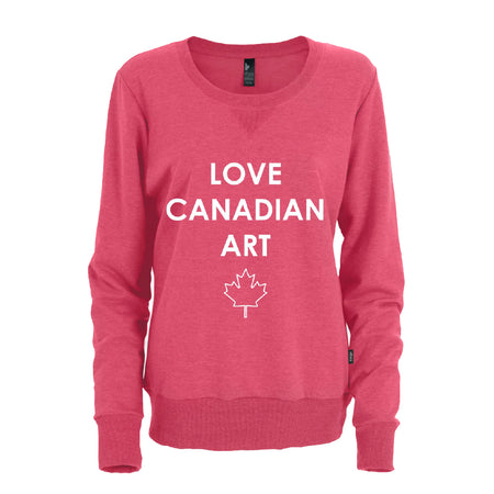 Love Canadian Art Crewneck Sweater