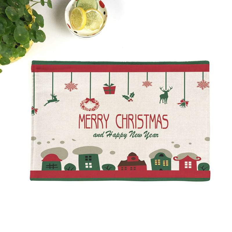 Merry Christmas Town SET OF 4
