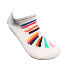 Women's socks cream colour with colour bars
