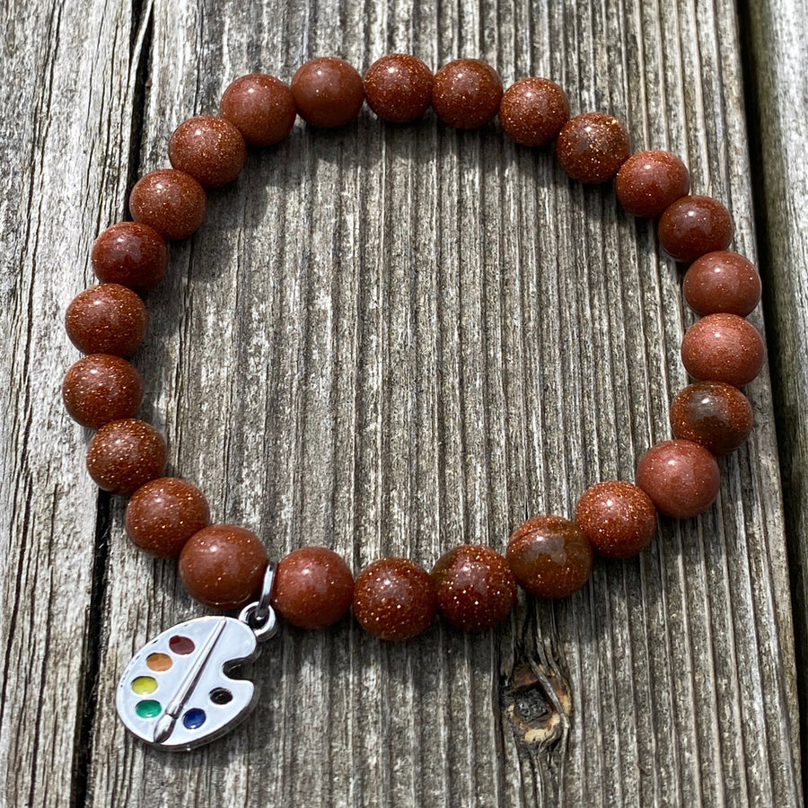 Goldstone gemstone bracelet