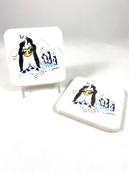 Penguin Coasters Set of 2