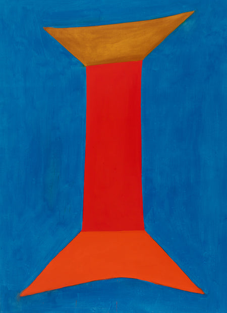 'RED COLUMN #2' by Canadian Artist, Jack Bush.