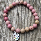 Shades of pink gemstone bracelet for love