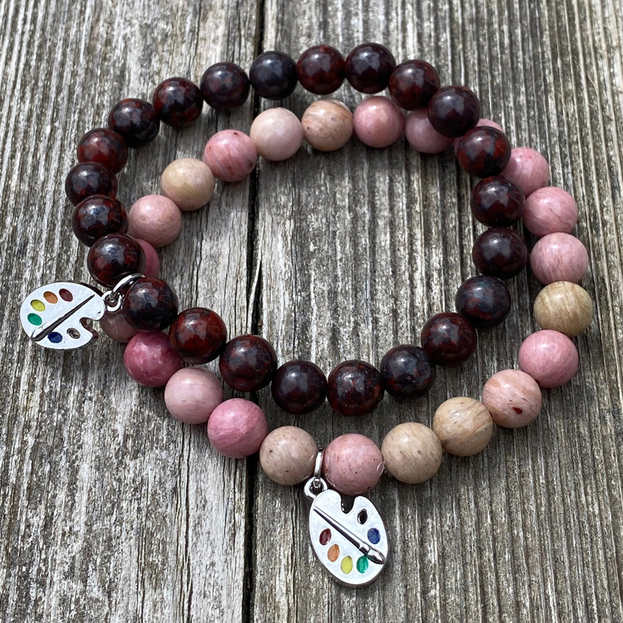Gemstone Bracelet Rhodonite