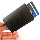 Pop-Up PU Leather Wallet RFID Wine