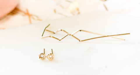 Knot Earrings, Gold-Filled