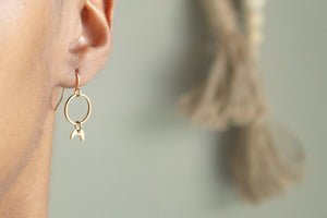 Moon+Circle Earrings