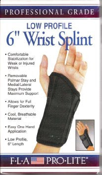 "wrist ProLite 6"" low profile splints - Adventura Sickroom Supply"
