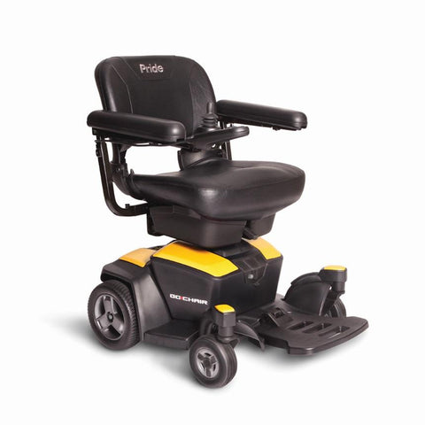 Go Chair Pride Mobility Electric Wheelchair with Tight Turning Radius Heaviest Piece is 36lbs