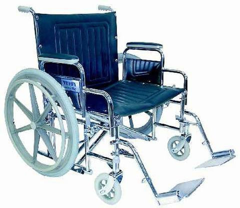 "Tuffy Wheelchair - 22"" Extra Wide w/Removable Arms - 377DB/AP - Adventura Sickroom Supply"