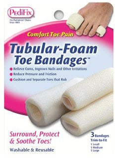 Pedifix Toe bandages Tubular Foam p337 - Adventura Sickroom Supply