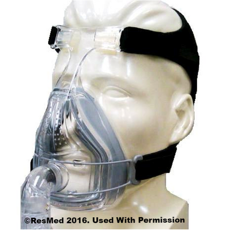 CPAP Mask ResMed  Full Face Mirage Quattro - Adventura Sickroom Supply