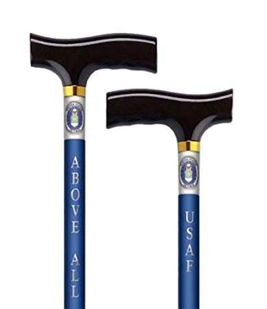 canes USA Air Force, USA Navy design walking stick wood derby handle Alex orthopedics - Adventura Sickroom Supply