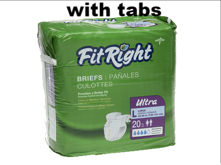 diapers fit right very good absorbency with tabs