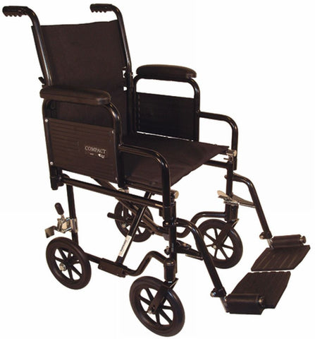 wct 20-21 Wheelchair transporter 700 w/removable arms lightweight Tuffcare - Adventura Sickroom Supply