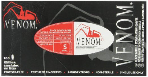 gloves nitrile black venom non sterile 100' - Adventura Sickroom Supply