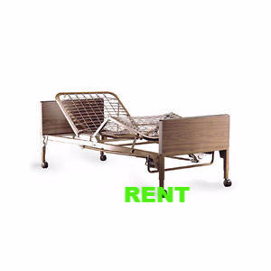 Rent Hospital Bed Full Electric w/Rails and Upgraded Mattress Monthly Rental 250.00 (Local Delivery Included) - Adventura Sickroom Supply