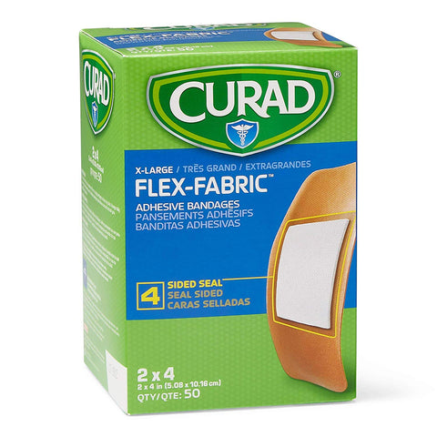 Adhesive Bandages Flex-Fabric X-Large 2x4 bx/50 Latex Free - Adventura Sickroom Supply