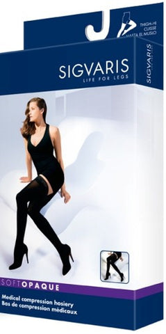 thigh soft opaque sigvaris 30-40 compression socks - Adventura Sickroom Supply