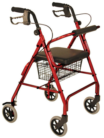Walker 4 wheel w/seat Tuffcare Walkers - Adventura Sickroom Supply