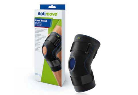 knee Safe-T-Sport hinged wrap around stabilizing supports